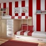 Móveis embutidos são ótimas opções para quartos infantis pequenos (Foto Divulgação)