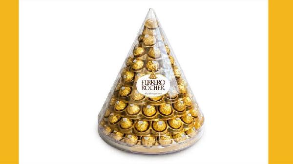 Pirâmide Ferrero Rocher deliciosa (Foto Divulgação: Exame)