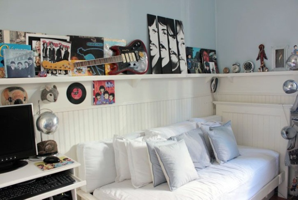 Exponha na decoração itens relacionados à música. (Foto: Reprodução/Homemydesign)