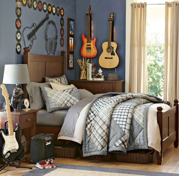Quarto decorado com tema m sica for Ideas decorativas para habitaciones