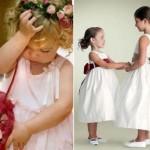 Damas de honra com a mesma idade devem usar vestidos iguais. A menina mais velha deve evitar peças muito infantis. (Foto:Divulgação)