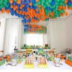 Balões nas cores azul, laranja e verde. (Foto:Divulgação)