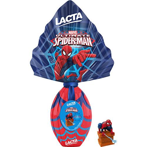 Ovo de Páscoa Spiderman Ao Leite com Brinde Boneco Homem Aranha Azul(Foto Divulgação: Americnas)