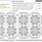 Gráfico serve de guia para o trabalho com crochê. (Foto:Divulgação)