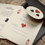 Cartas de baralho viraram convite de casamento (Foto: Divulgação)