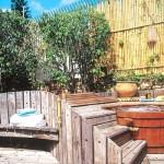 Painel de bambu garante privacidade. (Foto:Divulgação)