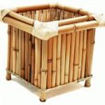 Elemento decorativo feito com bambu. (Foto:Divulgação)