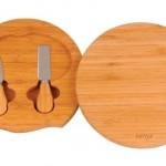 Kit para queijo de bambu. (Foto:Divulgação)