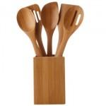 Utensílios de cozinha feitos com bambu. (Foto:Divulgação)