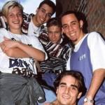 Os meninos do Backstreet Boys no início da carreira. (Foto:Divulgação)