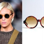 Óculos de sol redondo feminino