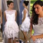 Isis Valverde usando um vestido de renda renascença. (Foto:Divulgação)