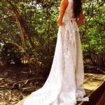 A renda renascença deixa o vestido com toque artesanal. (Foto:Divulgação)