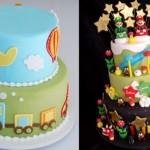 Bolo com tema transportes e bolo do Mario Bros.  (Foto:Divulgação)