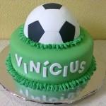Bolo inspirado em Futebol. (Foto:Divulgação)