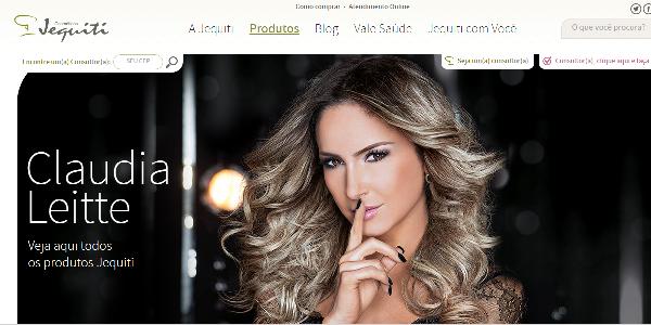 Jquiti tem Cláudia Leite como modelo para produtos de beleza dia das mães (Foto: Divulgação Jequiti)