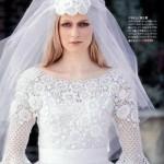 Vestido de noiva de crochê comportado e romântico. (Foto:Divulgação)
