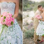 O vestido de crochê deixa o look da noiva delicado e sofisticado. (Foto:Divulgação)