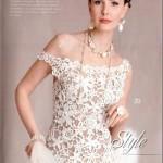O vestido de crochê combina com o casamento realizado durante o dia. (Foto:Divulgação)