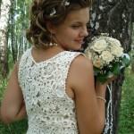 O crochê valoriza os detalhes do vestido. (Foto:Divulgação)