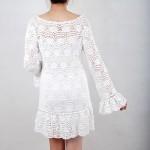 Vestido de crochê curto. (Foto:Divulgação)
