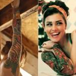 Braço fechado com tatuagens. (Foto:Divulgação)