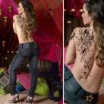 A tatuagem grande nas costas é uma opção interessante. (Foto:Divulgação)