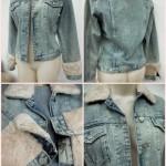 Aplicação de pelúcia em jaqueta jeans (Foto: Divulgação)
