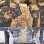 Aplicações de renda em jaquetas jeans (Foto: Divulgação)