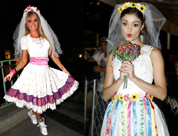 O vestido da noiva deve ter muitas cores, flores e fitas (Foto: Divulgação)