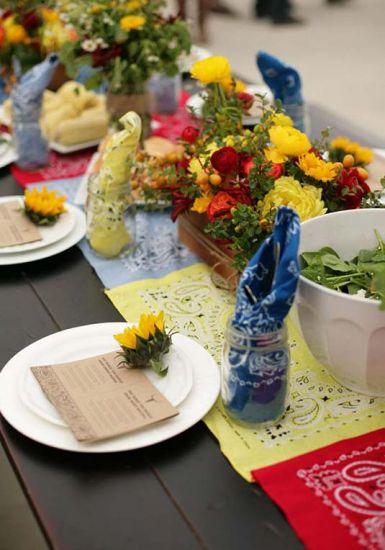 A mesa dos convidados pode ser bem colorida  (Foto: Divulgação)