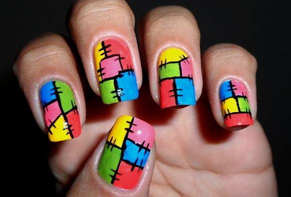 Nail art de retalhos (Foto:Divulgação)