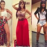 Três looks diferentes de MC Anitta. (Foto:Divulgação)