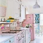 Cozinha decorada com tons pastel.  (Foto:Divulgação)