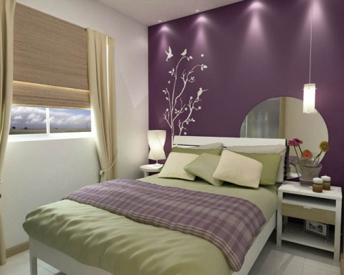 Adesivo branco combina com os móveis e contrasta com a parede (Foto: Divulgação)