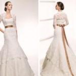 Os laços nos vestidos de noivas, dão um toque romãntico ao modelo. (Foto divulgação)