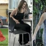 A personagem de Paola Oliveira sempre aprece em cena com um vestido longo. (Foto:Divulgação)