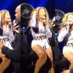 Recentemente o cabelo de Beyoncé ficou preso no ventilador. (Foto:Divulgação)