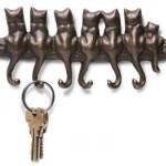 Gatinhos inspiraram este porta-chaves. (Foto:Divulgação)