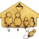A família toda conseguirá organizar as chaves com este acessório. (Foto:Divulgação)