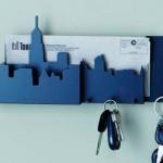 Porta-chaves inspirado em uma cidade. (Foto:Divulgação)