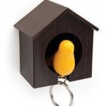 Porta-chaves com formato de casinha de passarinho. (Foto:Divulgação)