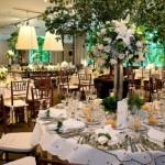 Ambiente decorado para o almoço de casamento. (Foto:Divulgação)