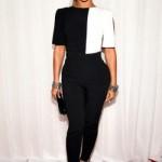 Beyoncé usando um macacão P&B. (Foto:Divulgação)