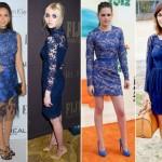 Modelos em renda azul (Foto: Divulgação)