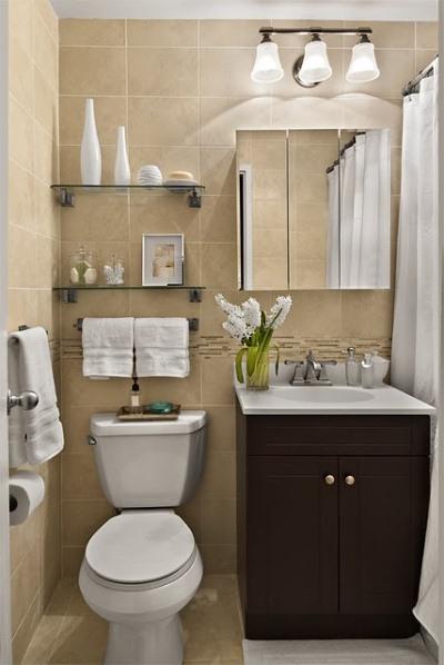 Banheiro pequeno e charmoso, em cores neutras (Foto: Divulgação)