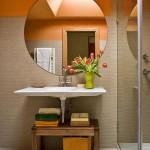 Embora pareça sofisticado, este banheiro é simples e bonito (Foto: Divulgação)