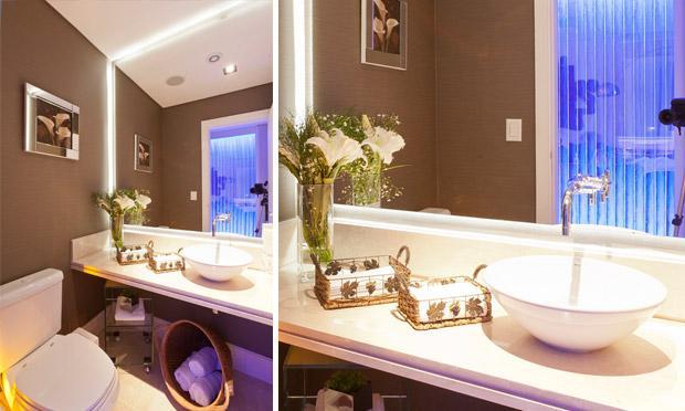 Decoração de banheiros pequenos e simples fotos  MundodasTribos – Todas as  -> Banheiro Pequeno Com Espelho Ate O Teto