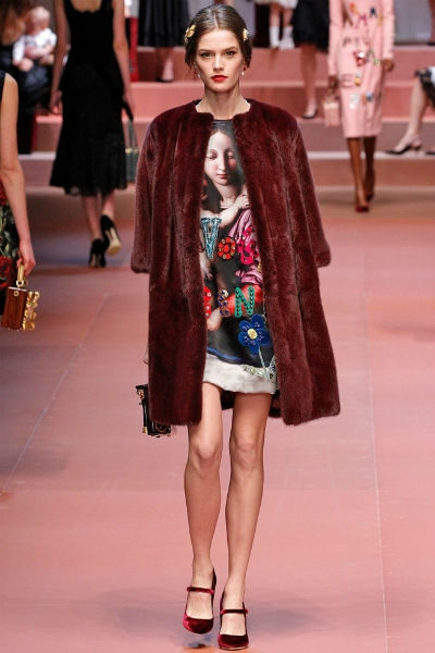 Desfile Dolce & Gabbana inverno 2016 5