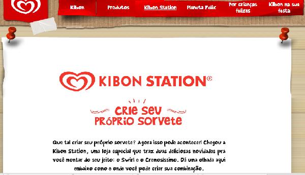 No site da Kibon você pode criar seu sorvete (Foto Divulgação: Kibon)